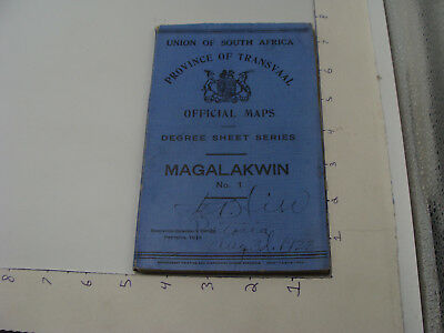 1922 Union of South Africa - Procince of Transvall Official Map -- MAGALAKWIN