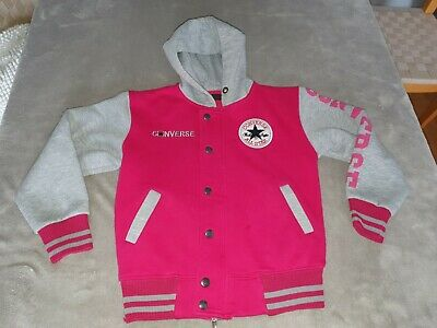 Girls Pink Converse All Star Hoodie - Size Large