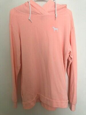 Victorias Secret PINK Peach extra small Hooded Pullover Sweatshirt