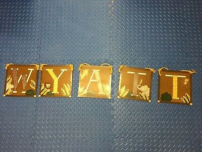 WYATT baby name wall letters