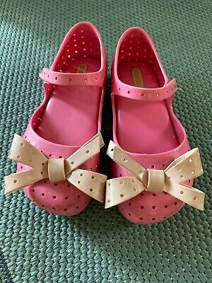 NEW Mini Melissa FURADINHA XII/_LT in Pink toddler size 5-12