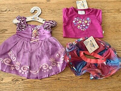 Build A Bear Clothes - New With Tags  - Rapunzel Dress - Outfit - Disney