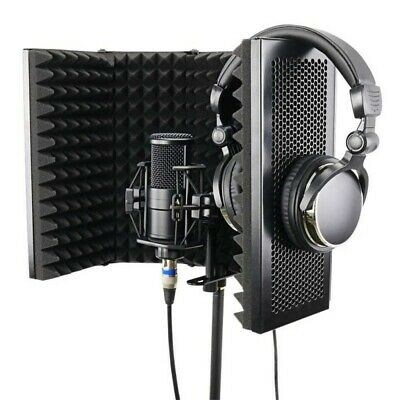 Studio Microphone Foam Panel Isolation Shield Recording Soundproof Stand Mount