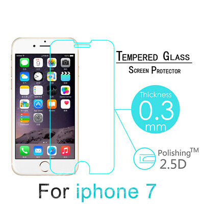 Hot Sale 100% Tempered Real Glass Screen Protector Protection For Apple IPhone 7