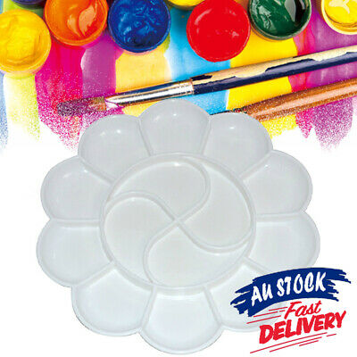 Artist Palette Paint Plastic Pallet  Painting Craft Art Well  Round Mixing