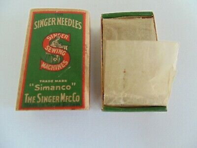 Vintage Singer sewing machine box of  needles class 16x4 No 18