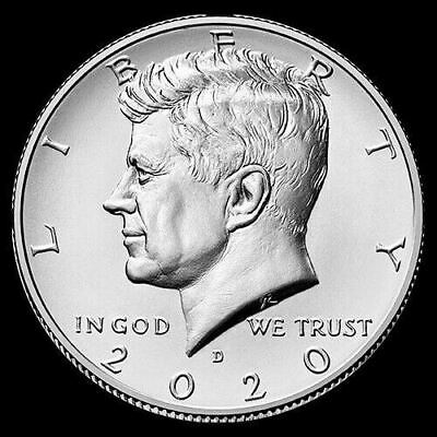 2020 D Kennedy Half Dollar Clad US Coin Brilliant Uncirculated ***Pre-Sale***