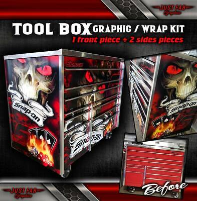 """Tool Box Wrap KRA4059FPBO 26"""" SNAP-ON Vinyl Skin TOP/SIDES/BACK ONLY"""