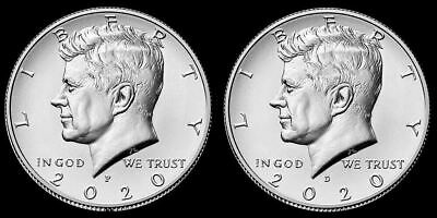 "2020 P&D Kennedy Half Dollar Clad US ""BU"" (2 Coin Set) ***Pre-Sale***"