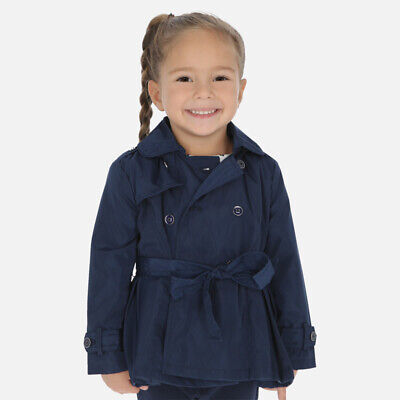 New Mayoral Girls pleated trench coat, Age 2 years (3474)