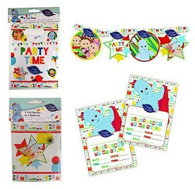 In The Night Garden 4pc Party Set - Loot Bags, Party Banner, Invitations & More