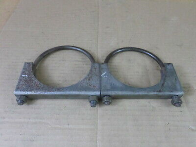 """Lot of 2 Unbranded 4"""" Steel Saddle Style U-Bolt Clamps"""