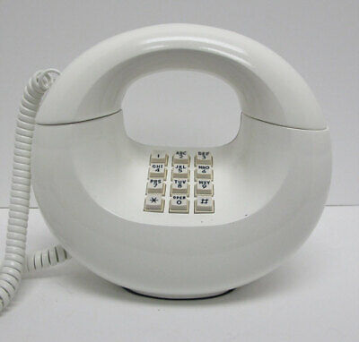 White Western Electric Sculptura TouchTone Desk Telephone - Full Restoration
