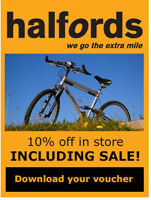 10 % off Halfords voucher