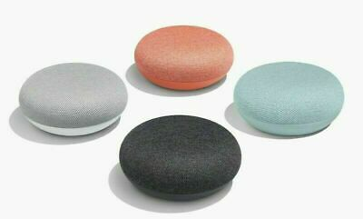 Google Home Mini Smart Speaker Charcoal, Chalk, Coral, Aqua SEALED