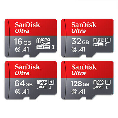 SanDisk Ultra Micro SD  32GB 64GB & 128GB Class 10 SD SDHC Memory Card Adapter
