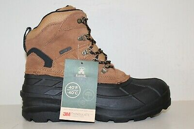 Fuda Men/'s Pac Snow Suede Waterproof Thinsulate Winter Boots