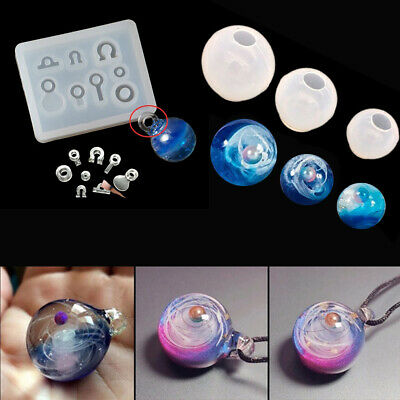 Making Tools Necklace Pendant Star ball Silicone Mould Resin Mold Epoxy Mold
