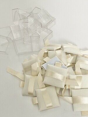 Pandora Jewelry Store Counter Display pillows ribbon with Plastic Riser 20 count