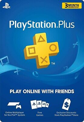 PSN 3 Months PlayStation PS Plus PS4-PS3 -Vita ( NO CODE ) WORLDWIDE