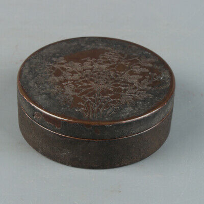 Chinese Exquisite Handmade Copper Ink Paste Box