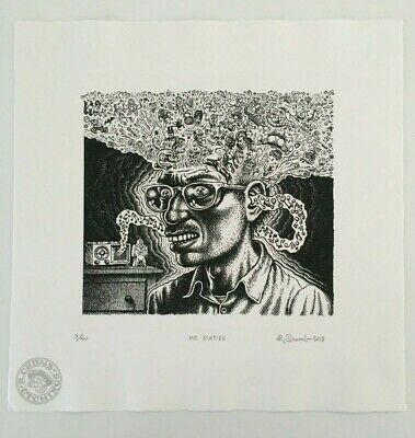 Robert Crumb R Crumb Etching - Mr. Sixties - Signed and Numbered 2015
