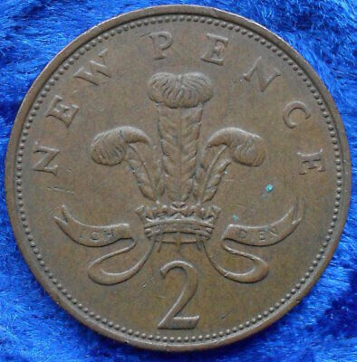 UK - 2 new pence 1971 KM# 916 Elizabeth II Decimal Coinage - Edelweiss Coins .
