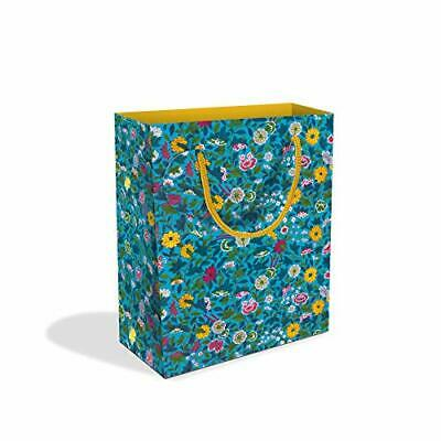 Blue Chinese Ornament Design Small Luxury Gift Bag with Gift Tag V&A Collection