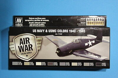 Vallejo Airbrush Model Air Set US Navy and USMC colors 1940-1945 (8)