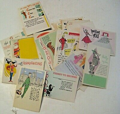 70 Vintage Advertising Flyer Cards ~ Clothing Holidays Women's Fashion New York