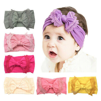 Baby Headbands Newborn Girl Hair Bows Turban Knotted Toddler Nylon Headwrap 1Pcs