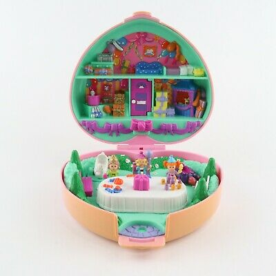 POLLY POCKET 1992 Partytime Party Time Birthday Stamper w/3 original dolls