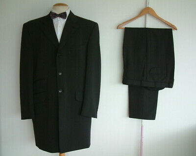 """EDWARDIAN STYLE SUIT..42"""" x 38""""..1900's..3 BUTTON..LONGER..BLINDERS..PEAKY.."""