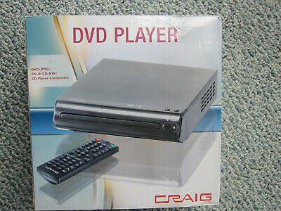BRAND NEW Craig Electronics Compact DVD Player (CVD512A) With Cords Remote NOS