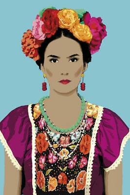Senora Con Las Flores Frida Kahlo Style Giclee Print by Mark Chandon