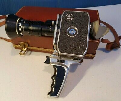 Bolex Paillard Zoom Reflex Movie Camera with Leather Case