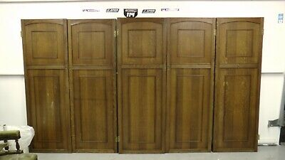 antique vintage  5 old style internal cupboard  wardrobe doors barn cottage