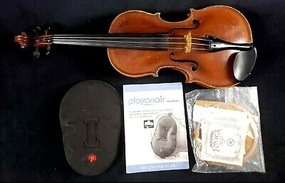 De Stalo or Steiner Style Violin with Extra Strings Bow and Shoulder Rest