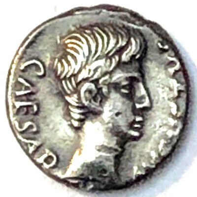RARE Augustus. 27 BC-AD 14. AR Denarius. Rome mint. Pegasus walking right