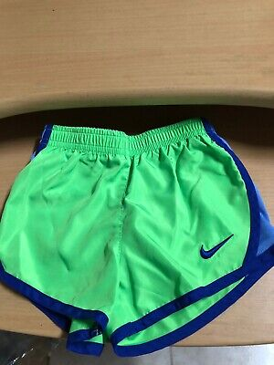 NIKE Toddler Girls Dri-FIT Tempo Shorts Size 3T Lime Blue