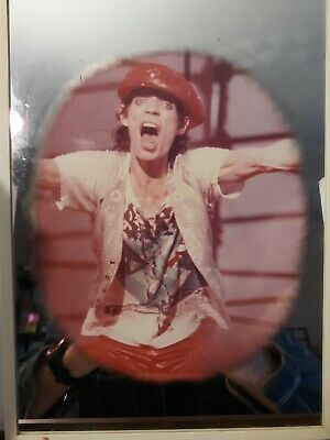 Vtg The Rolling Stones  Tongue Carnival Mirror Sign Mick Jagger