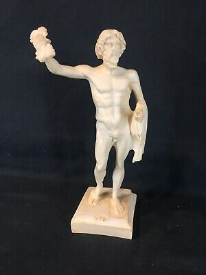ZEUS Ancient Greek God King of all Gods Handmade Alabaster Statue.
