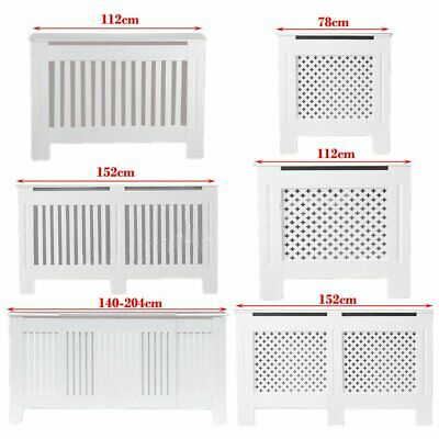 Small, Medium, Large, XL Modern Radiator Cover White Painted Cabinet-MDF Wood UK