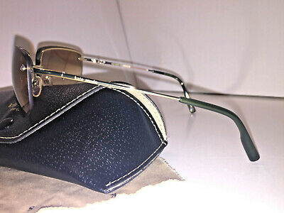 Italian KATE SPADE Sunglasses Mavis Gold Metal Aviator w Grn Stripe Accent