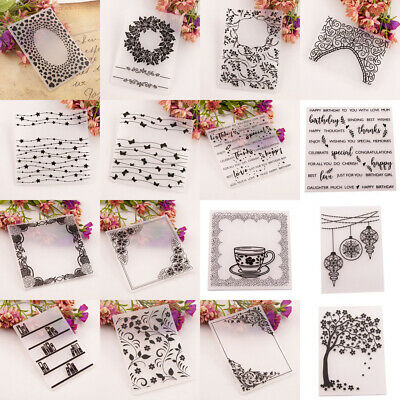 Plastic Embossing Folder Stencil DIY Scrapbooking Template Paper Cards Craft  DH