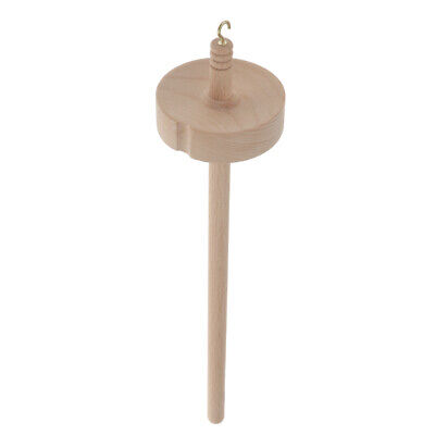 Wooden Drop Spindle Yarn Spin Spinning Kit Top Whorl Supply for Beginner