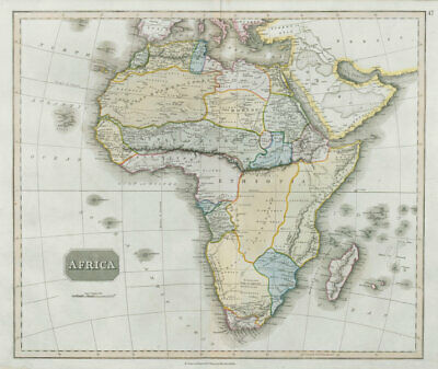Pre-colonial Africa. Mountains of Kong/Moon. Regions unexplored THOMSON 1830 map