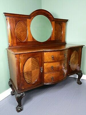 An Antique Early 20th Century Mahogany Buffet Sideboard ~Delivery Available~