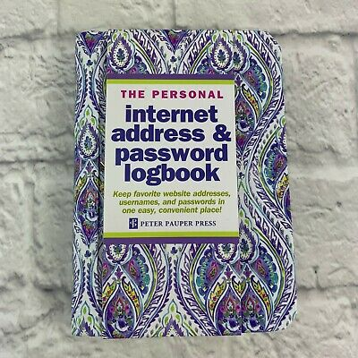 The Personal Internet Address And Password Log Book Keep Website Information NEW