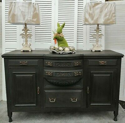 Distressed Edwardian Sideboard - Rustoleum 'Graphite' - Home Sweet Home HF3378